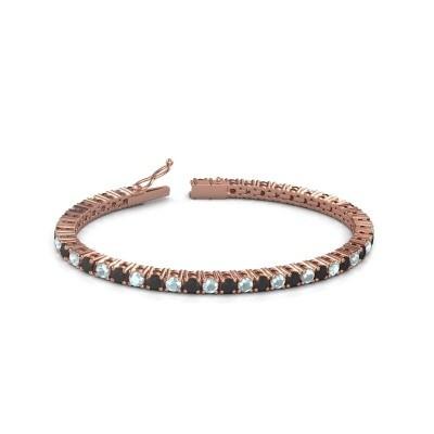 Foto van Tennisarmband Jenny 375 rosé goud zwarte diamant 5.184 crt