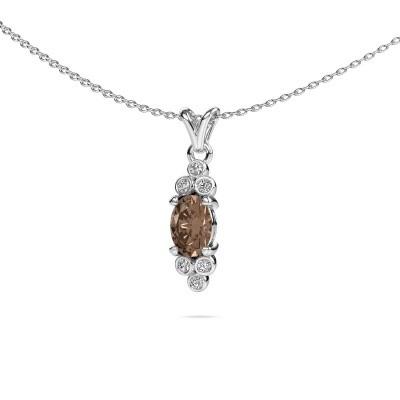 Foto van Hanger Lucy 2 585 witgoud bruine diamant 0.89 crt