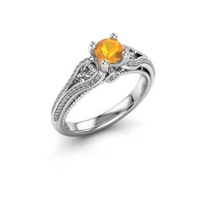 Verlovingsring Nikita 950 platina citrien 5 mm