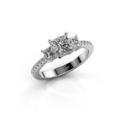 Engagement ring Dorla 925 silver zirconia 5 mm