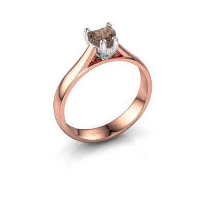 Engagement ring Sam Heart 585 rose gold brown diamond 0.50 crt