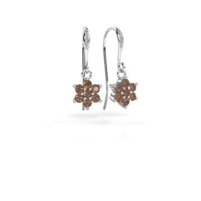 Foto van Oorhangers Dahlia 2 585 witgoud bruine diamant 0.69 crt
