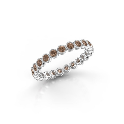 Bild von Ring Mariam 0.03 585 Weißgold Braun Diamant 0.69 crt