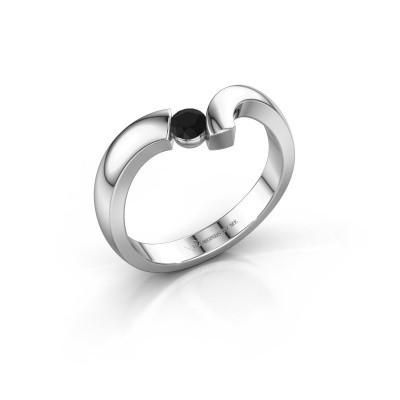 Ring Arda 925 zilver zwarte diamant 0.18 crt