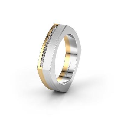 Huwelijksring WH2005L 585 goud diamant ±5x2 mm