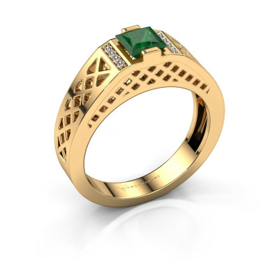 Herrenring Jonathan 585 Gold Smaragd 5 mm