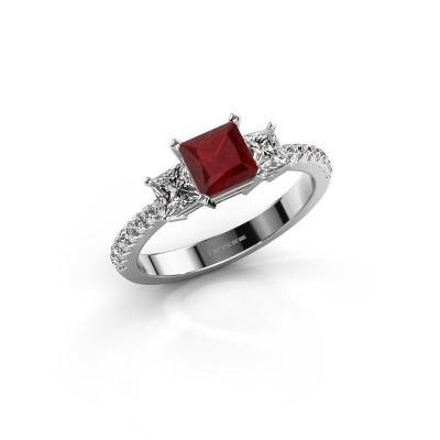 Engagement ring Dorla 950 platinum ruby 5 mm