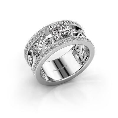 Foto van Ring Sanne 925 zilver zirkonia 5 mm