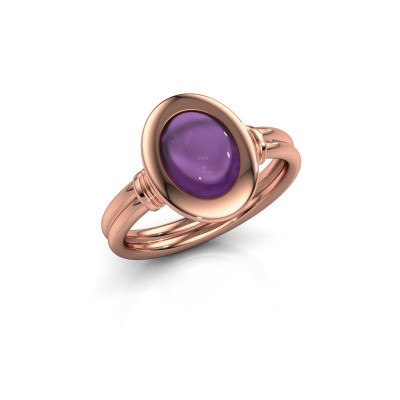 Picture of Ring Brittni 585 rose gold amethyst 9x7 mm