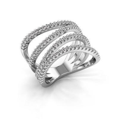 Ring Mitzi 585 witgoud zirkonia 1.2 mm