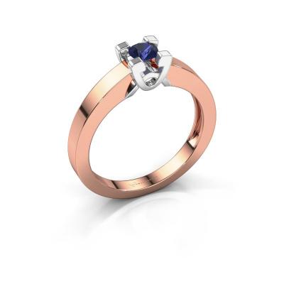 Verlovingsring Nina 1 585 rosé goud saffier 3.7 mm