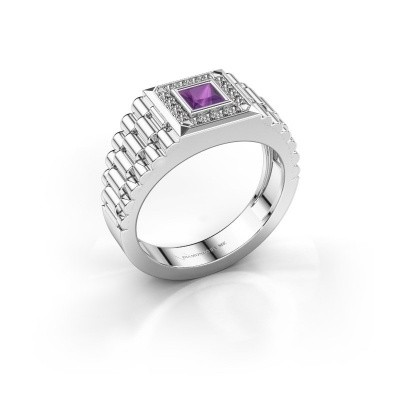 Bild von Rolex Stil Ring Zilan 950 Platin Amethyst 4 mm