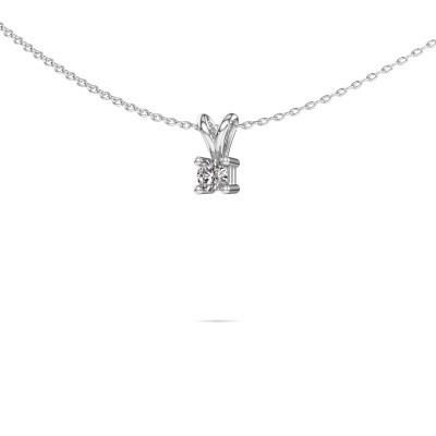 Photo de Collier Eline 585 or blanc diamant 0.15 crt
