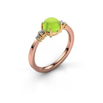 Ring Regine 585 rosé goud peridoot 6 mm