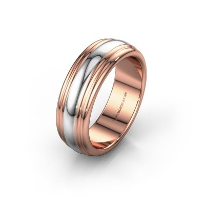 Wedding ring WH2234LN 585 rose gold ±0.24x0.09in