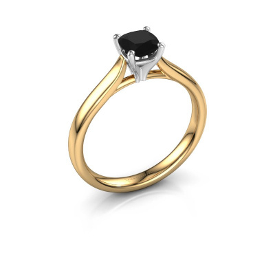 Verlobungsring Mignon cus 1 585 Gold Schwarz Diamant 0.70 crt