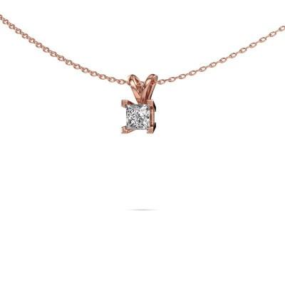 Foto van Hanger Ariane 375 rosé goud diamant 0.40 crt