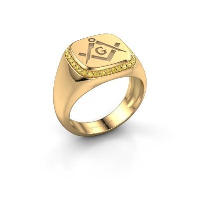 Foto van Heren ring Johan 585 goud gele saffier 1.2 mm