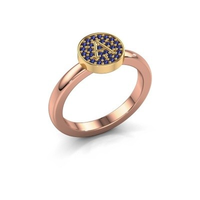 Ring Initial ring 010 585 rose gold