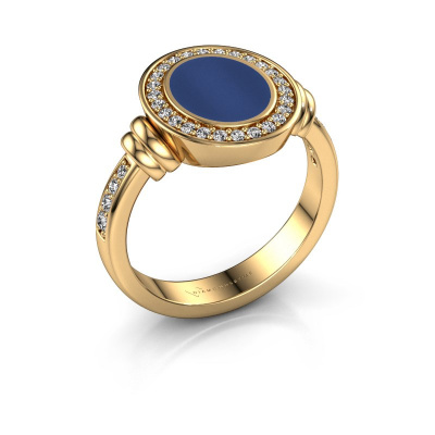 Signet ring Bailey 585 gold lapis 10x8 mm