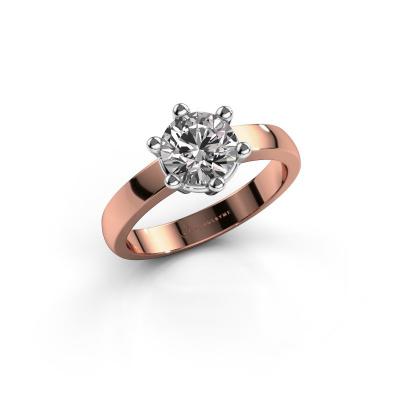 Engagement ring Luna 1 585 rose gold diamond 1.00 crt