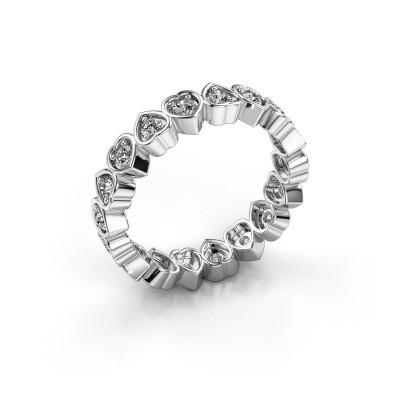 Foto van Aanschuifring Pleun 375 witgoud diamant 0.54 crt