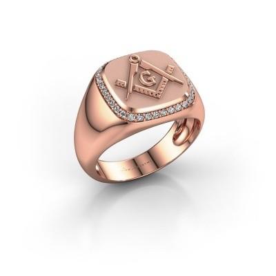 Foto van Heren ring Johan 585 rosé goud diamant 0.255 crt