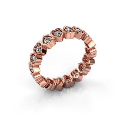 Bague superposable Pleun 585 or rose diamant synthétique 0.54 crt