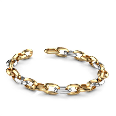 Picture of Candy bracelet Oval link 1 10.0 585 gold
