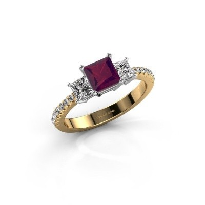 Engagement ring Dorla 585 gold rhodolite 5 mm