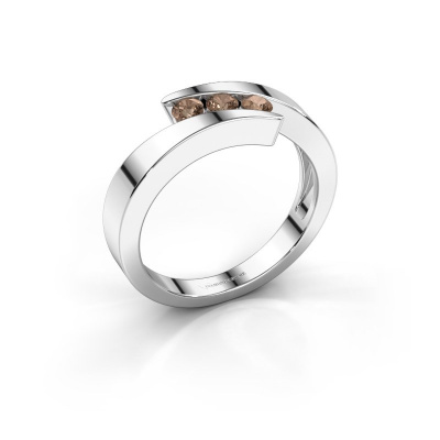 Bild von Ring Gracia 950 Platin Braun Diamant 0.24 crt