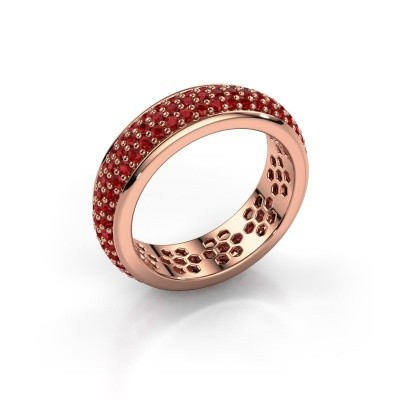 Ring Tara 375 Roségold Rubin 1.3 mm