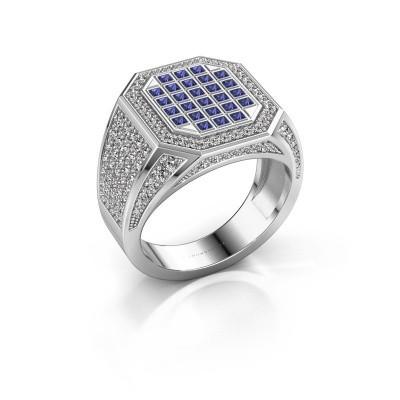 Heren ring Bjorn 950 platina saffier 1.5 mm