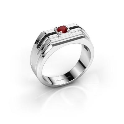 Foto van Heren ring Oliver 925 zilver robijn 4 mm