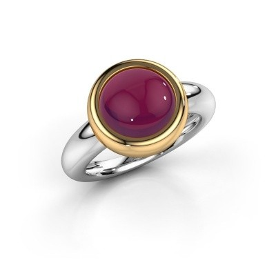 Picture of Ring Jenae 585 white gold rhodolite 10 mm