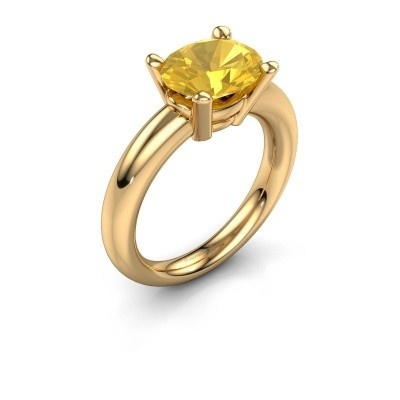 Bague Janiece 585 or jaune saphir jaune 10x8 mm