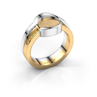 Ring Leander 585 goud gele saffier 0.8 mm