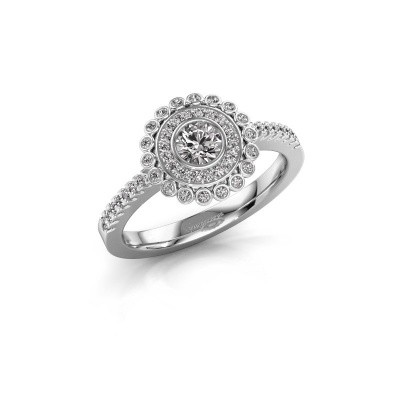 Engagement ring Shanelle 585 white gold zirconia 4 mm