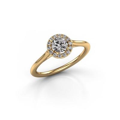 Engagement ring Seline rnd 1 375 gold diamond 0.505 crt