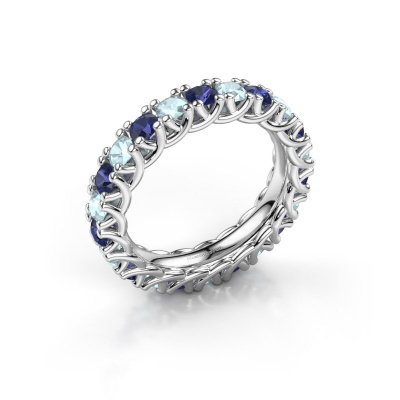 Ring Fenna 585 witgoud saffier 3 mm