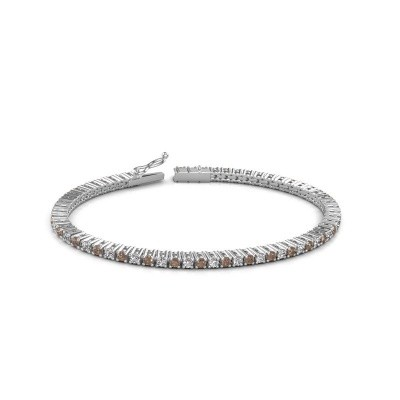 Tennis bracelet Karisma 585 white gold brown diamond 3.41 crt