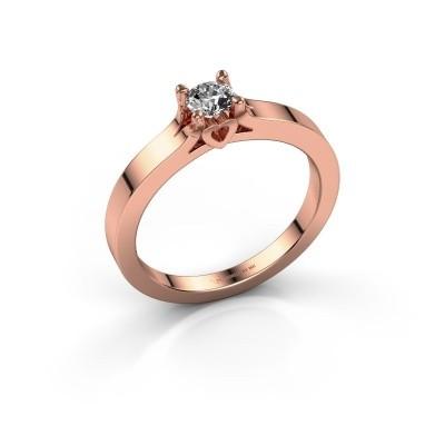 Foto van Belofte ring Eliz 585 rosé goud lab-grown diamant 0.30 crt