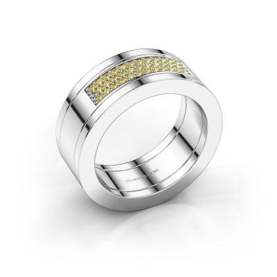 Bild von Ring Marita 1 950 Platin Gelb Saphir 1.1 mm