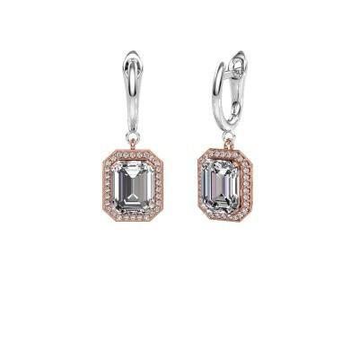 Drop earrings Dodie 1 585 rose gold lab-grown diamond 2.50 crt