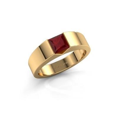 Foto van Verlovingsring Arlena 1 375 goud robijn 4 mm