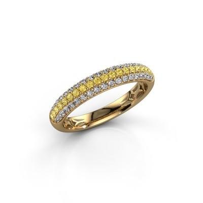 Foto van Ring Emely 2 375 goud gele saffier 1.3 mm