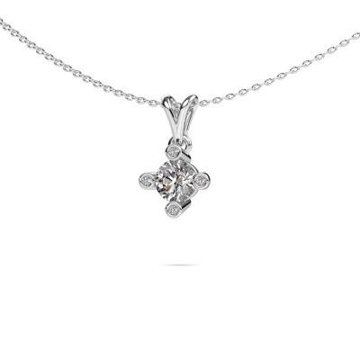 Foto van Hanger Cornelia Round 950 platina diamant 0.62 crt