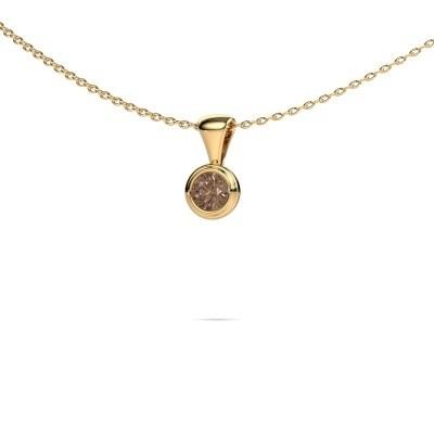 Foto van Ketting Lieke 375 goud bruine diamant 0.25 crt