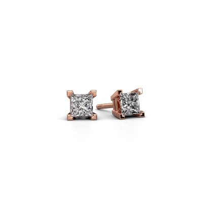 Picture of Stud earrings Ariane 375 rose gold diamond 0.80 crt