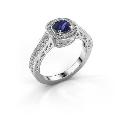 Verlovings ring Candi 585 witgoud saffier 5 mm